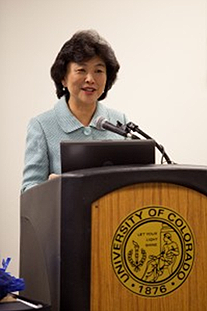 Ding-Jo H. Currie congratulated the fellows for completing the program and thanked UCCS.