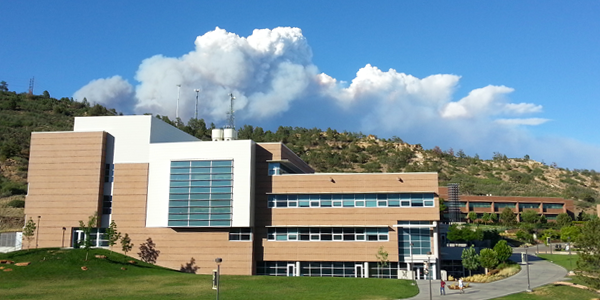 Smoke from the Black Forest Fire was visible from campus.