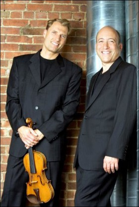 Cooperstock, right, with his Opus Two partner, violinist William Terwilliger.