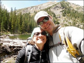 Travis Vermilye with his wife, Alicia, in Rocky Mountain National Park.