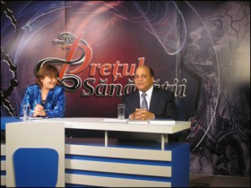 While in Romania in April, Morris Clark appeared on television to discuss the country