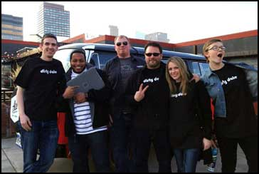 The AppIt Ventures team at a Denver outing. From left, CEO and CU Denver student Rob Carpenter, Brandon Brisbon, Stuart Parker, Lawrence Battey, Brandy Anderson and Raelina Krikston.