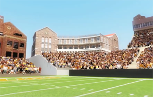 Fundraising for new athletics facilities celebrated at spring football game