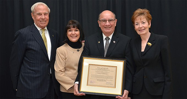 DiStefano honored for 40 years of service to CU-Boulder