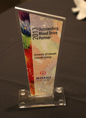 Bonfils names campus its Outstanding Blood Drive Partner